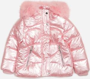 Różowa kurtka dziecięca born2be z polaru dla dziewczynek