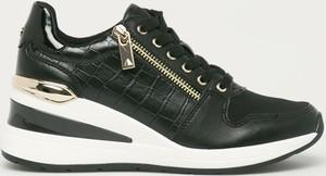 Czarne buty sportowe Aldo ze skóry ekologicznej sznurowane