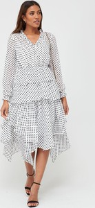 Sukienka V by Very z długim rękawem z szyfonu