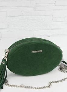 Zielona torebka Fabiola w stylu glamour