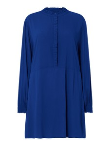 Niebieska sukienka Only z długim rękawem mini z okrągłym dekoltem