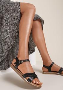 Sandały Renee z płaską podeszwą ze skóry