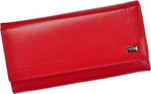 Czerwony portfel Pellucci ze skóry