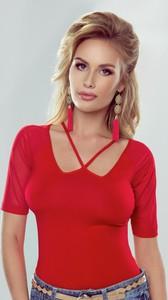 Czerwona bluzka eldar w stylu casual z tiulu