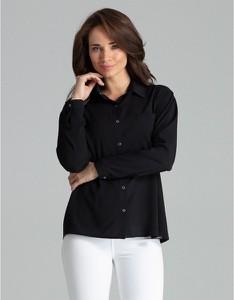 Czarna koszula LENITIF w stylu casual