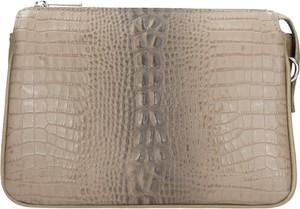 Brązowa torebka Wojas mała ze skóry