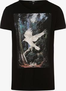 Czarny t-shirt Tigha z krótkim rękawem z bawełny