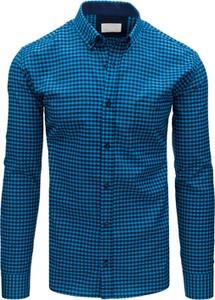 Niebieska koszula Dstreet w stylu casual z bawełny