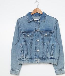 Niebieska kurtka House z jeansu w stylu casual krótka