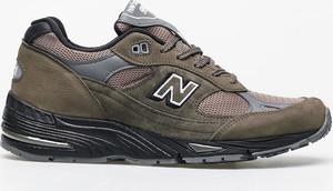 Zielone buty sportowe New Balance sznurowane z zamszu