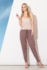 Różowe spodnie Figl w stylu casual