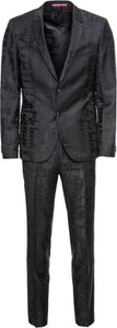Czarny garnitur Hugo Boss z wełny