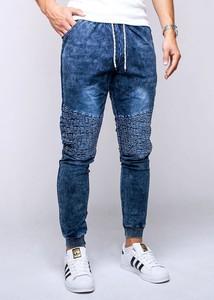 Niebieskie spodnie Recea z bawełny