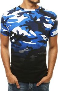 T-shirt Dstreet z bawełny w militarnym stylu z krótkim rękawem