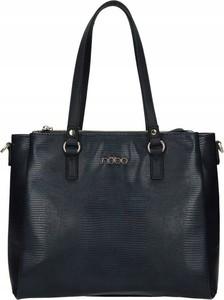 Czarna torebka NOBO w wakacyjnym stylu na ramię matowa