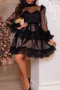 Sukienka IVET z długim rękawem mini