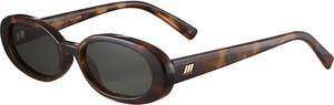 Brązowe okulary damskie Le Specs