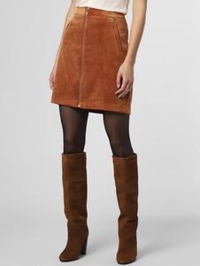 Brązowa spódnica comma, mini