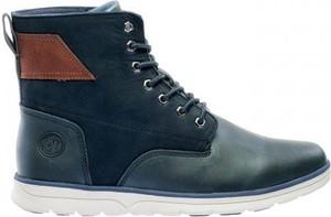 Buty zimowe sklepiguana sznurowane z zamszu