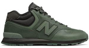 Zielone buty sportowe New Balance w sportowym stylu ze skóry