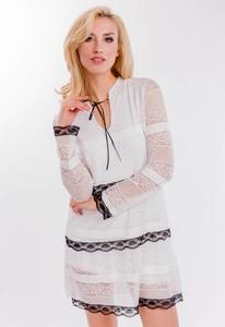 Sukienka Zoio midi z długim rękawem w stylu casual