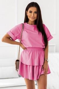 Różowa spódnica Ivon w stylu casual