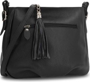 Czarna torebka Creole matowa średnia w stylu boho