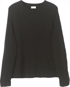 Czarna bluzka By Malene Birger z długim rękawem z wełny z okrągłym dekoltem