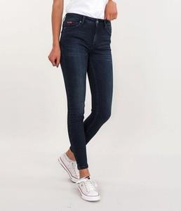 Granatowe jeansy Lee Cooper z bawełny w stylu casual