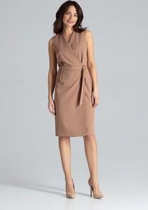 Sukienka LENITIF midi bez rękawów