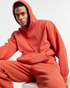 Pomarańczowa bluza Adidas Originals w młodzieżowym stylu z bawełny
