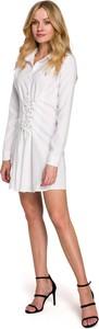 Sukienka MOE z dekoltem w kształcie litery v koszulowa mini