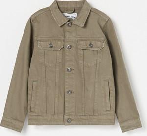 Zielona kurtka dziecięca Reserved z jeansu