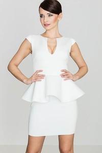 Sukienka LENITIF z dekoltem w kształcie litery v bez rękawów z tkaniny