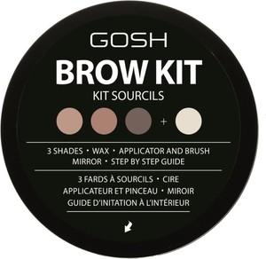 Gosh, Brow Kit, zestaw do stylizacji brwi, nr 001
