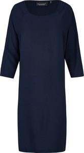 Niebieska sukienka BROADWAY NYC FASHION z okrągłym dekoltem