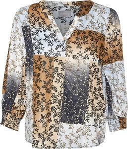 Bluzka Culture w stylu boho z dekoltem w kształcie litery v