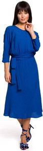 Sukienka Be z długim rękawem z tkaniny midi