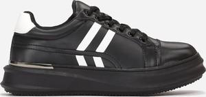 Czarne buty sportowe Multu ze skóry
