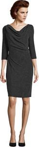 Czarna sukienka Vera Mont z długim rękawem mini