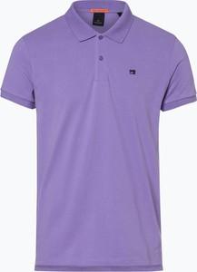 Fioletowa koszulka polo Scotch & Soda w stylu casual z bawełny z krótkim rękawem