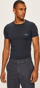 T-shirt Emporio Armani z krótkim rękawem z dzianiny