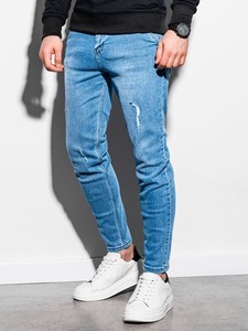 Niebieskie spodnie Ombre