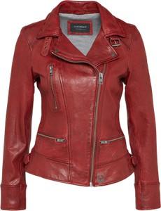 Czerwona kurtka oakwood ze skóry w rockowym stylu
