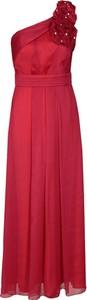 Sukienka Fokus midi bez rękawów z asymetrycznym dekoltem