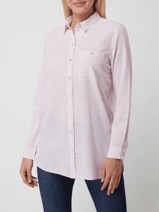 Różowa koszula Montego z bawełny z długim rękawem