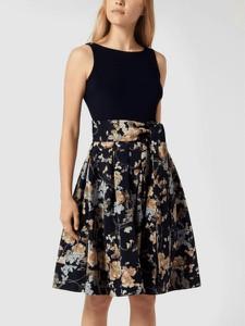 Granatowa sukienka Ralph Lauren z okrągłym dekoltem