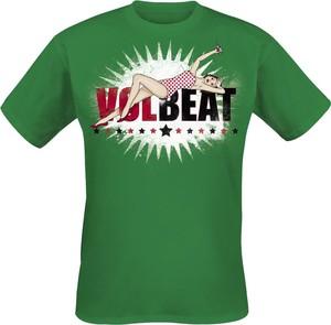 T-shirt Volbeat z krótkim rękawem z bawełny
