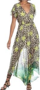 Sukienka Relish maxi z dekoltem w kształcie litery v z krótkim rękawem