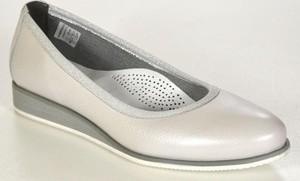 Lampert 1137/modena k34 szara perła półbuty damskie